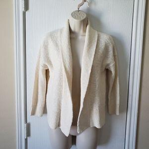 Ann Taylor Loft Linen Blend Open Front Cardigan